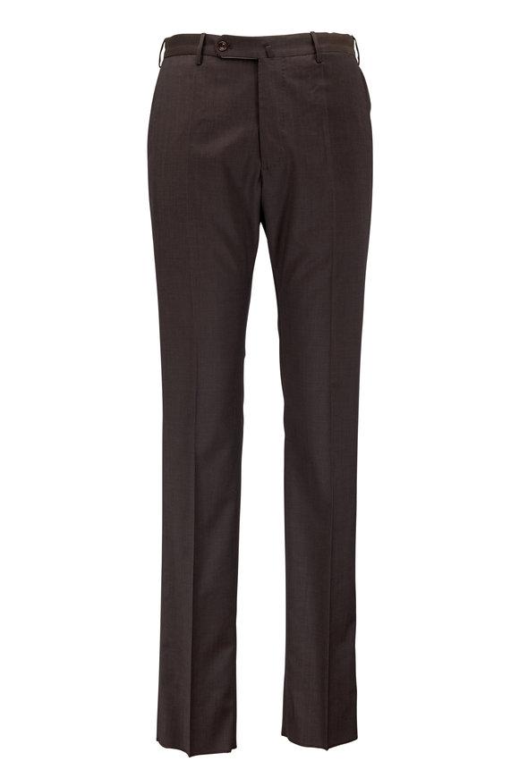 Incotex Benson Dark Brown Techno Wool Pant