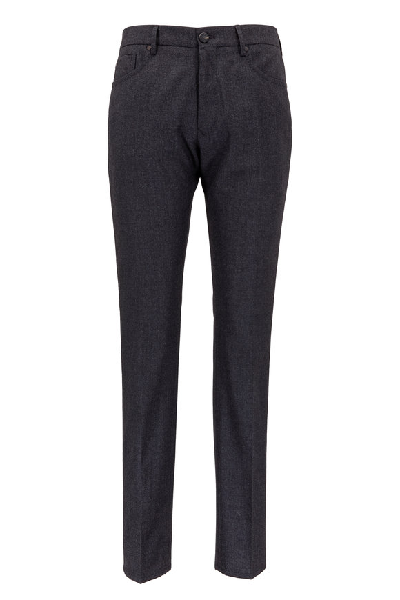 Incotex Charcoal Gray Wool & Cashmere Five Pocket Pant