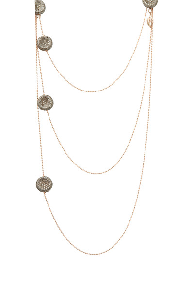Tulah Jem - Rose Gold 5 Bead Diamond Necklace