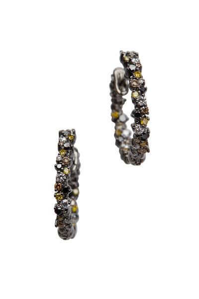 Paul Morelli - 18K Gold & Multi-Color Confetti Diamonds Hoops
