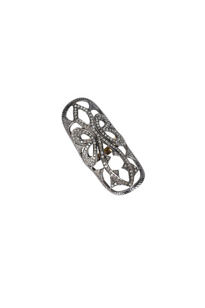 Loren Jewels - 14K Gold & Silver Pavé Diamond Ring