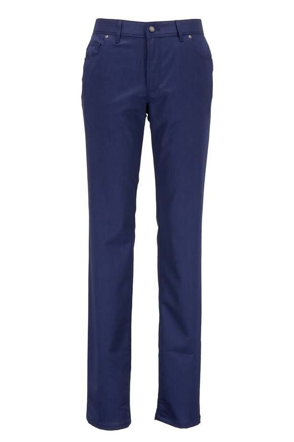 Hiltl Kent Navy Blue Stretch Wool Pant