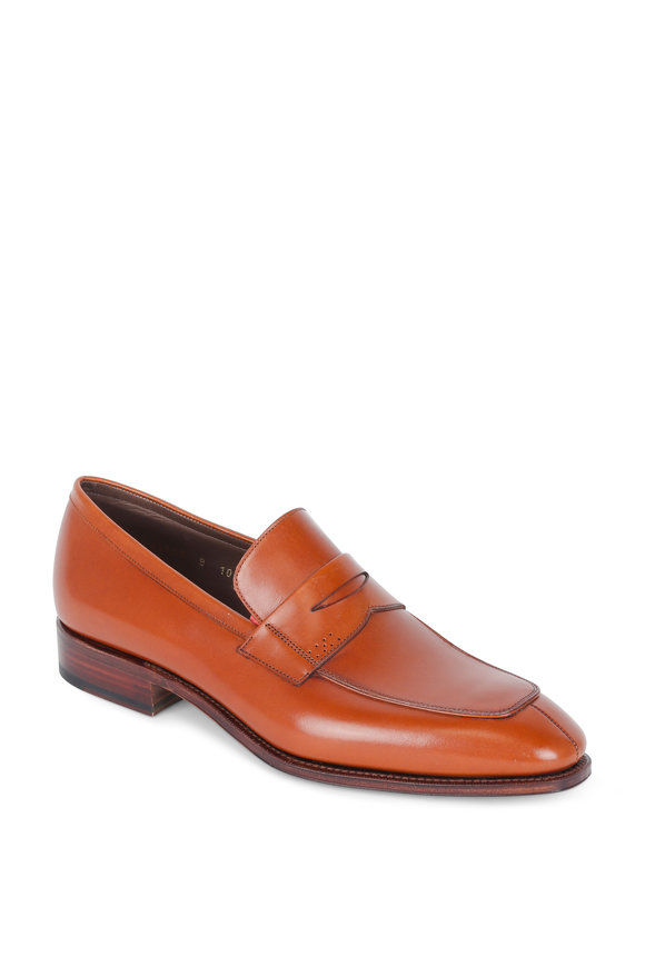 Carmina Simpson Tan Leather Penny Loafer