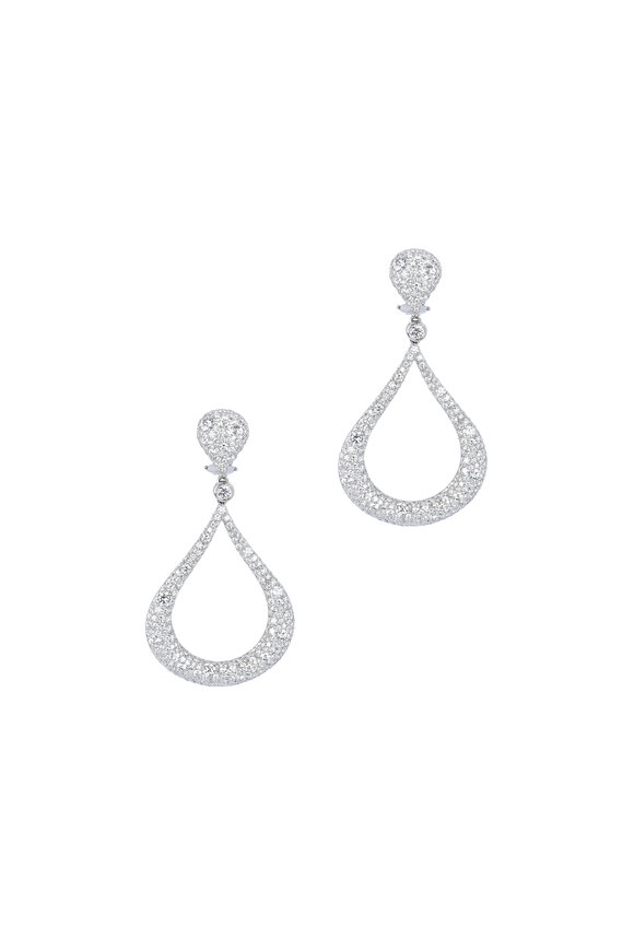 Kwiat 18K White Gold Diamond Cobblestone Earrings