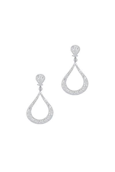 Kwiat - 18K White Gold Diamond Cobblestone Earrings