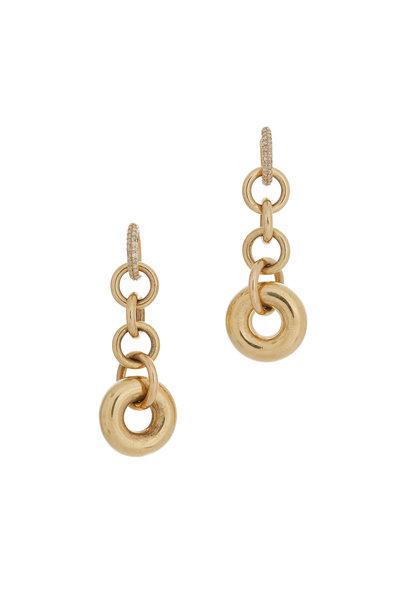 Spinelli Kilcollin - 18K Yellow Gold Diamond Alexa Drop Hoop Earrings