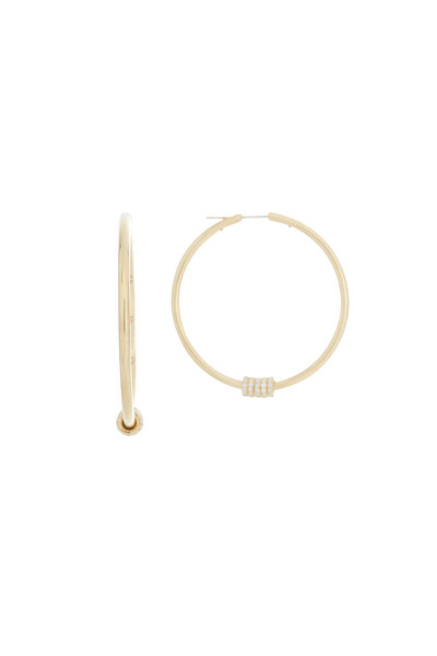 Spinelli Kilcollin - 18K Yellow Gold Diamond Pegasus Hoops