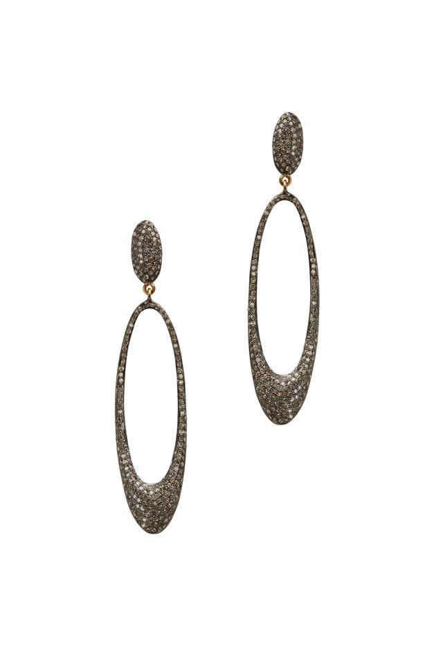 14K Gold & Diamond Drop Earrings