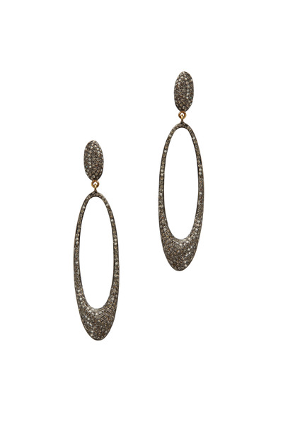 Loriann - 14K Gold & Diamond Drop Earrings