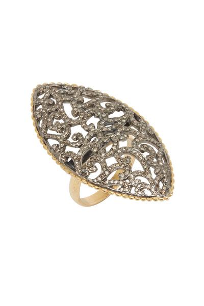 Loriann - Gold Marquise Shape Diamond Ring
