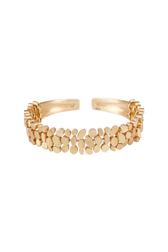 Luisa Rosas 18K Yellow Gold Petal Cuff Bracelet