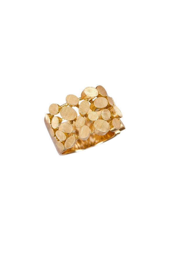 Luisa Rosas 18K Yellow Gold Petal Ring