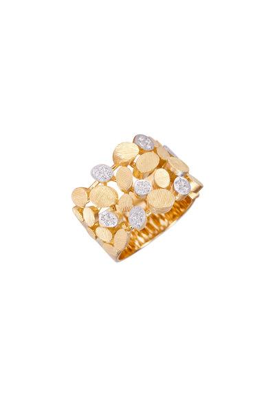 Luisa Rosas - 18K Yellow Gold & Diamond Petal Ring