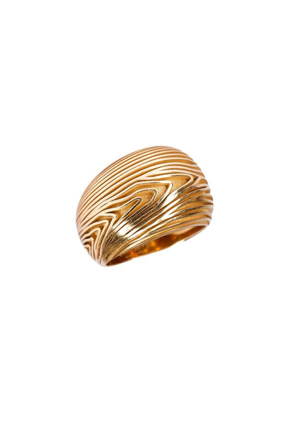 Luisa Rosas Yellow Gold Wood Ring