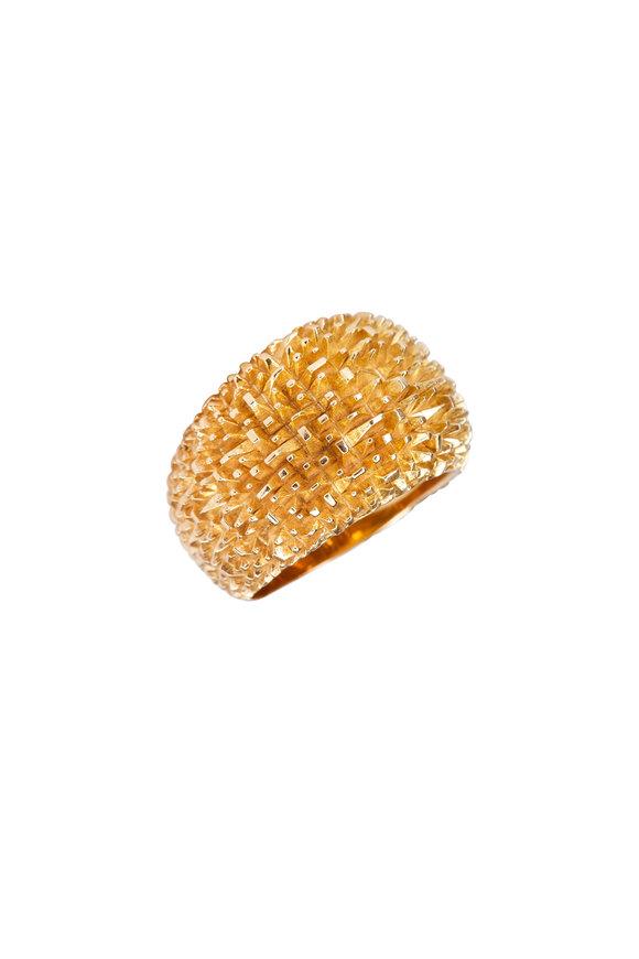 Luisa Rosas Yellow Gold Grass Ring