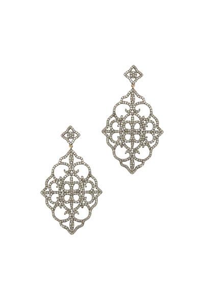Loriann - Gold Fancy Oval Diamond Earrings