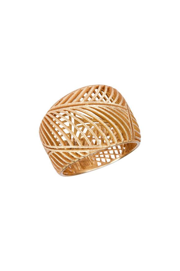 Luisa Rosas 18K Yellow Gold Open Work Ring