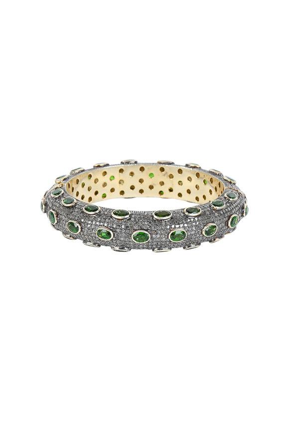 Loren Jewels Sterling Silver Diamond Bangle