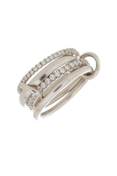 Spinelli Kilcollin - 18K White Gold Pavé Diamond Four Link Polaris Ring