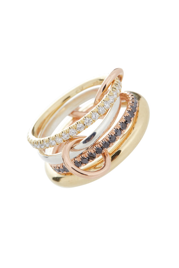 Spinelli Kilcollin 18K Gold & Silver Diamond Four Link Ring