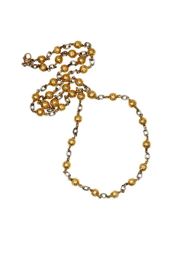 Sylva & Cie 18K Yellow Gold & Silver Gold Beaded Necklace