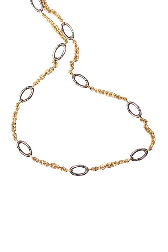 Sylva & Cie 18K Gold & Silver Thorn Link Necklace