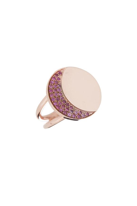 Genevieve Lau 14K Rose Gold Pink Aid Moon Ring