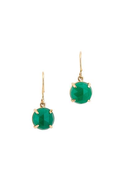 Emily & Ashley - Green Onyx Drop Earrings
