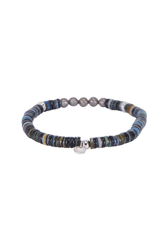 Tateossian Seychelles Blue Shell Bracelet