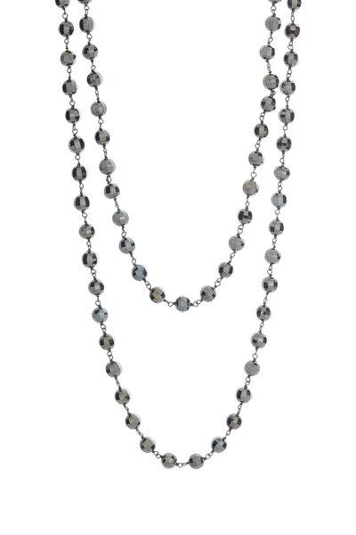 Loren Jewels - Sterling Silver Black Spinel Bead Necklace
