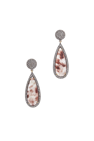 Loren Jewels - 14K Gold & Silver Quartz & Diamond Earrings