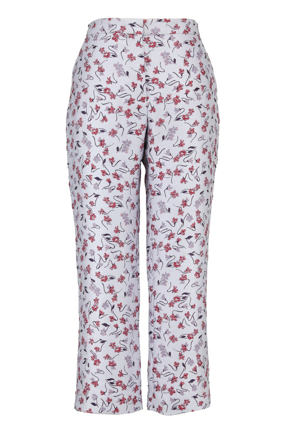Altuzarra Nettle Lilac Floral Jacquard Ankle Pant