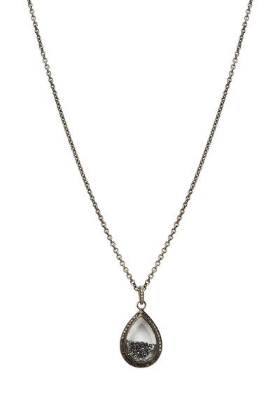 Loriann - Gold Rhodium Black Diamond Shaker Necklace
