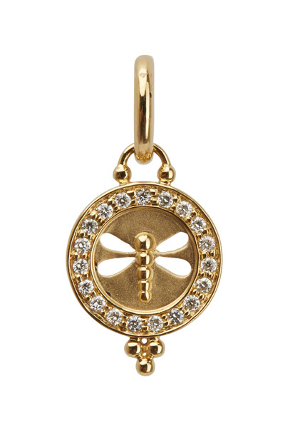 Temple St. Clair - 18K Yellow Gold & Diamond Dragonfly Pendant