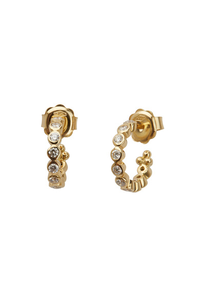 Temple St. Clair - Yellow Gold Diamond Eternity Hoop Earrings