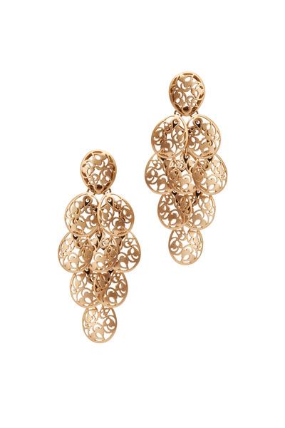 Pomellato - Arabesque Rose Gold Chandelier Earrings