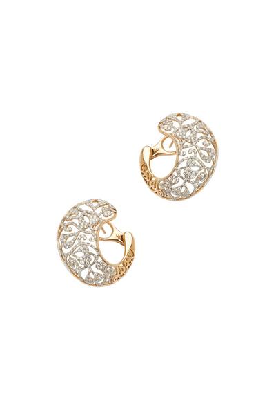 Pomellato - Arabesque Rose Gold Diamond Earrings