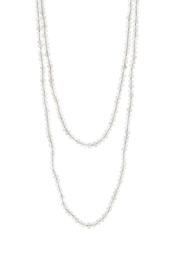 Caroline Ellen Yellow Gold Labradorite Beaded Necklace