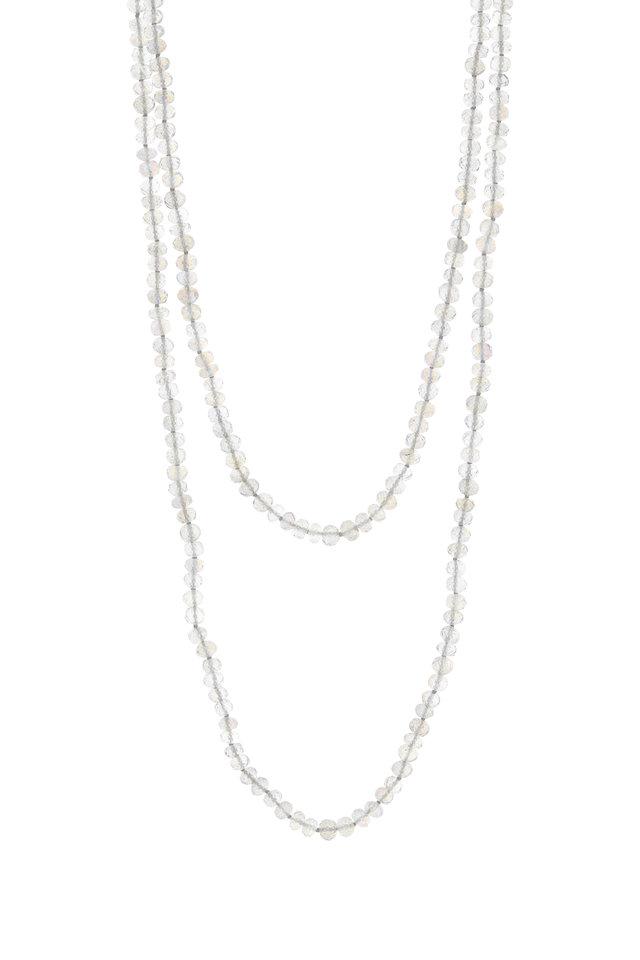 Yellow Gold Labradorite Beaded Necklace
