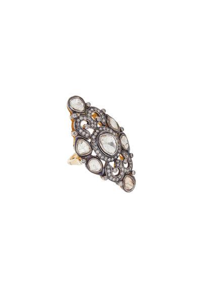 Loren Jewels - 14K Gold & Silver Diamond Ring