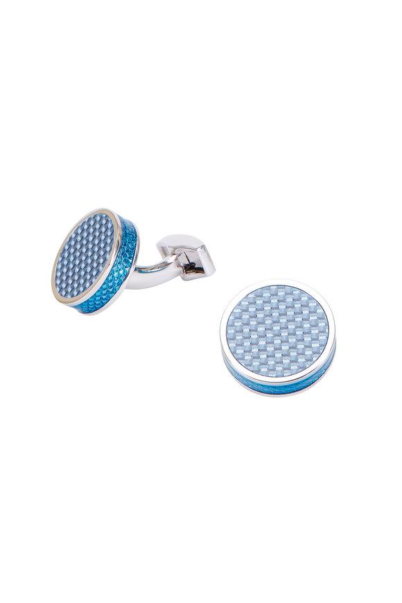 Tateossian Tablet Blue Carbon Fiber Cuff Links