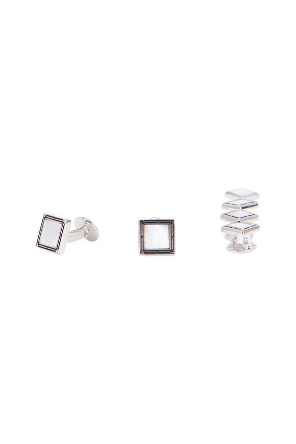 Baade II Mother-Of-Pearl Square Stud Set