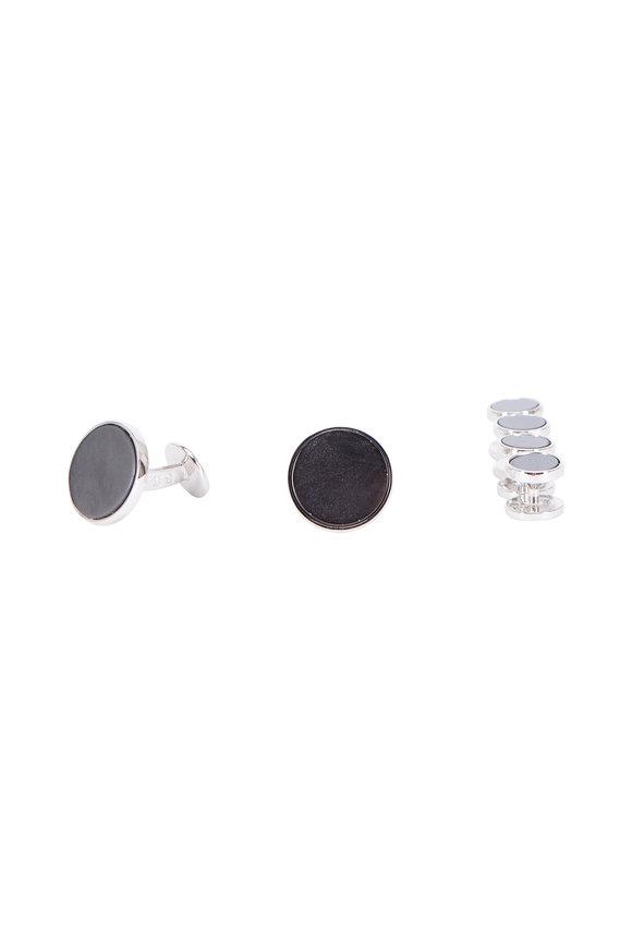 Baade II Gray Hematite Stud Set