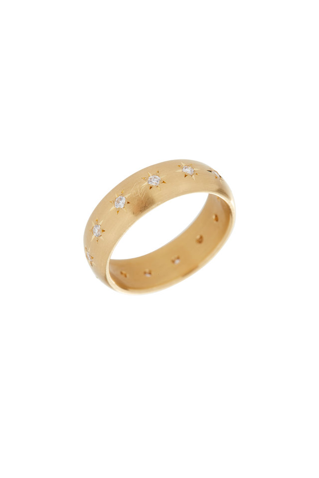 20K Yellow Gold Diamond Band