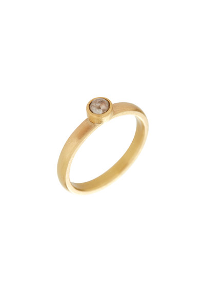 Caroline Ellen - 20K Yellow Gold Diamond Stackable Band