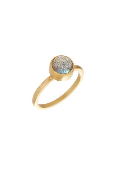 Caroline Ellen - 22K Yellow Gold Labradorite Ring