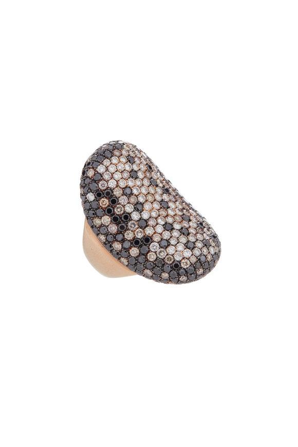 Loren Jewels 18K Gold Black & White Diamond Ring