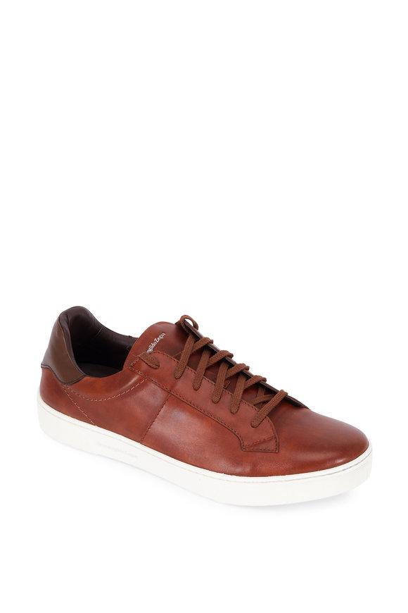 Ermenegildo Zegna Vittorio Vicuno Leather Sneaker