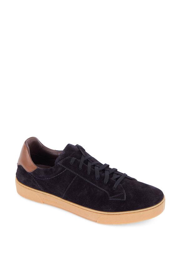 Ermenegildo Zegna Vittorio Black Suede Sneaker