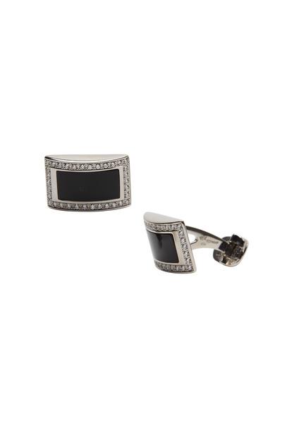 Kathleen Dughi - White Gold Black Onyx Diamond Cuff Links